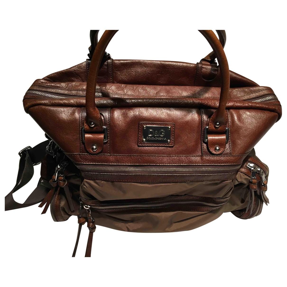 D&g \N Brown bag for Men \N