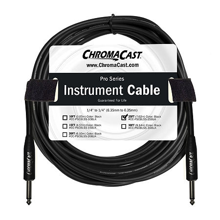 ChromaCast Pro Series Instrument Cable - 25 Feet, One Size , Black