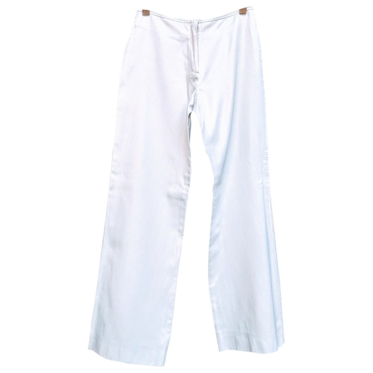 Non Signé / Unsigned \N Silver Cotton Trousers for Women S International