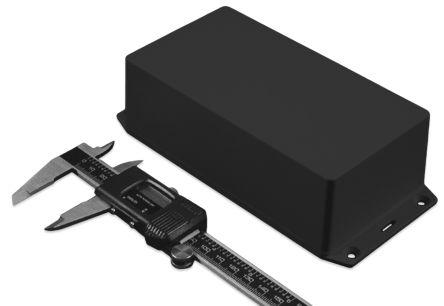 Hammond 1591, Black ABS Enclosure, IP54, Flanged, 122.5 x 95.9 x 35.3mm