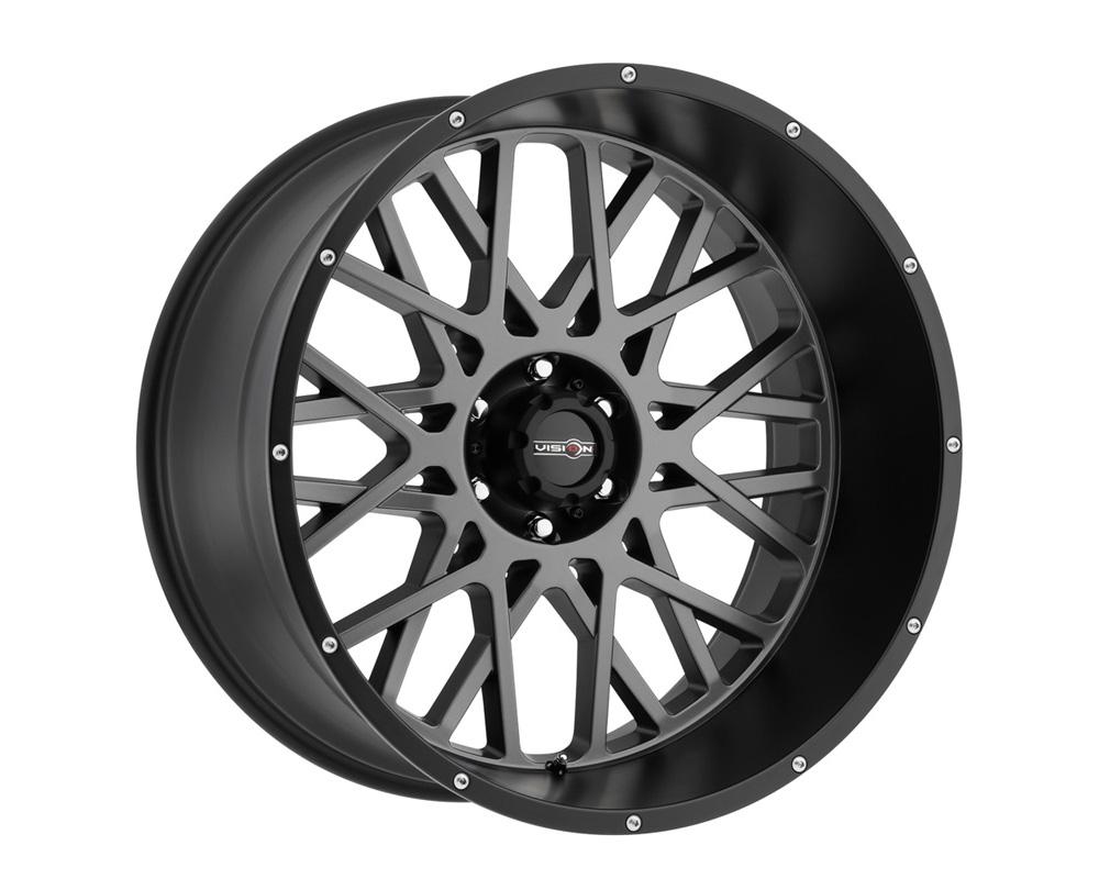 Vision Rocker Anthracite w/Satin Black Lip Wheel 20x9 8x165.1 12