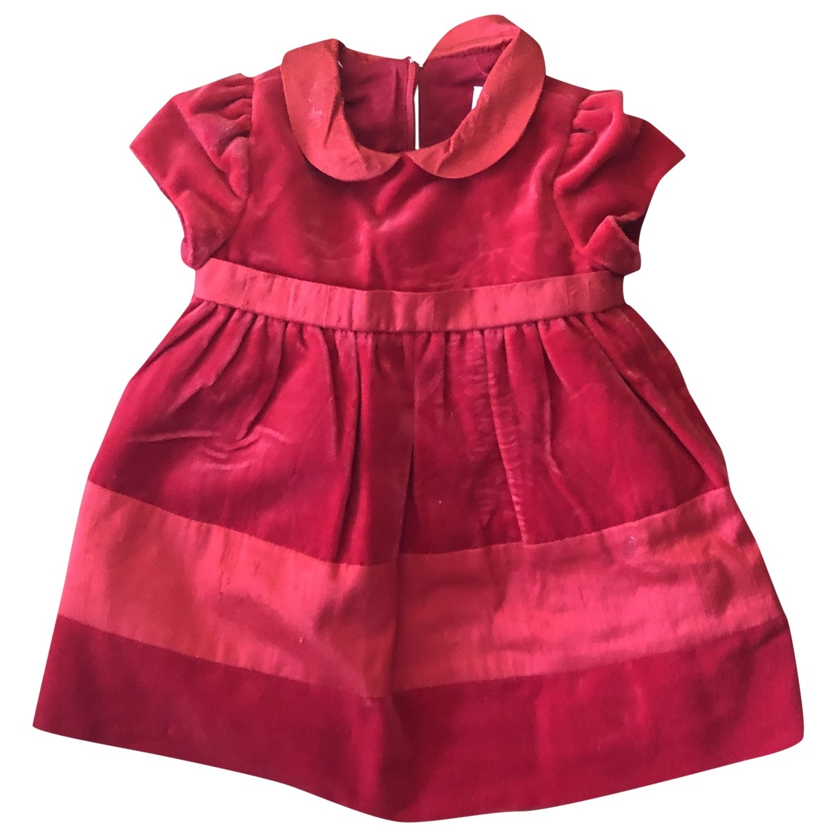 Non Signé / Unsigned \N Red Cotton dress for Kids 3 months - up to 60cm FR