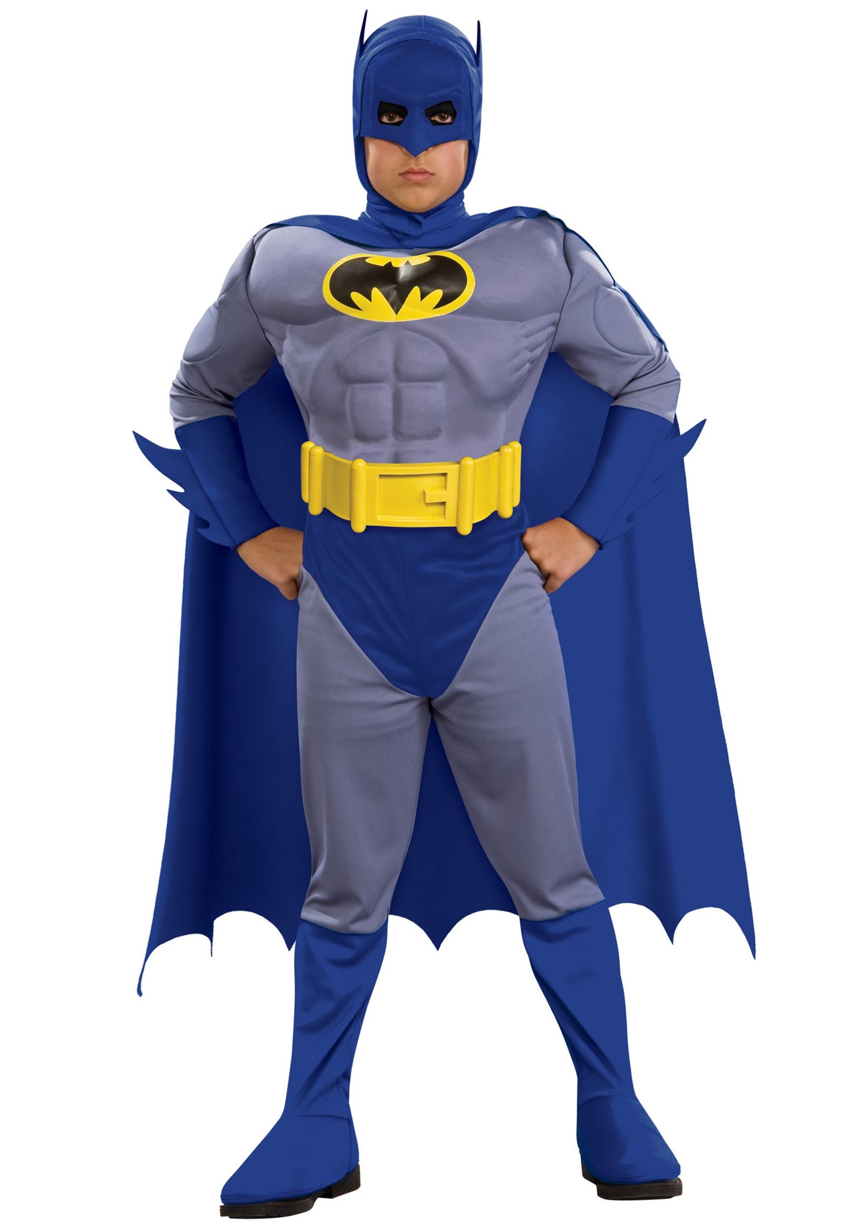Kids Supreme Muscle Chest Batman Costume