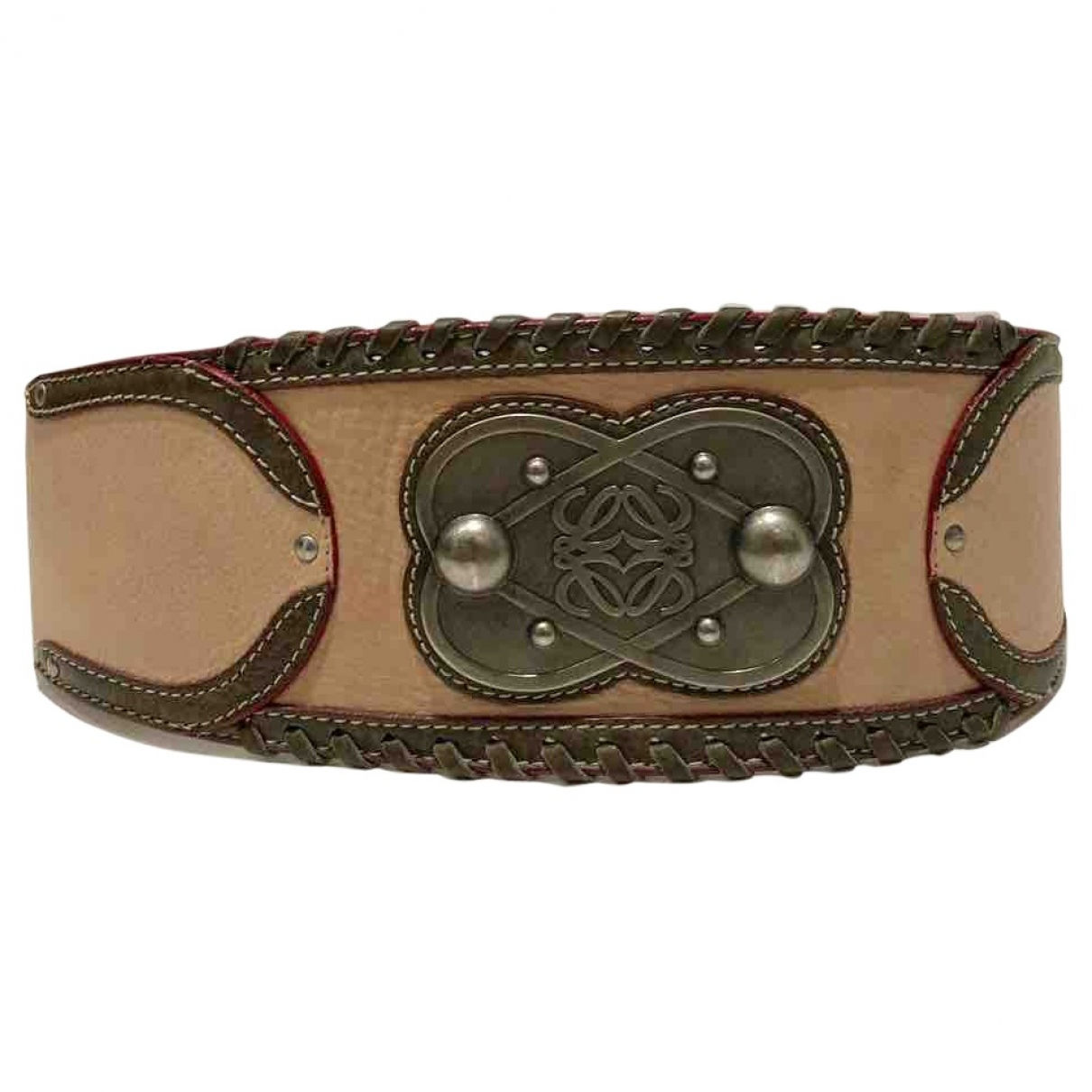 Loewe \N Pink Leather belt for Women XS
