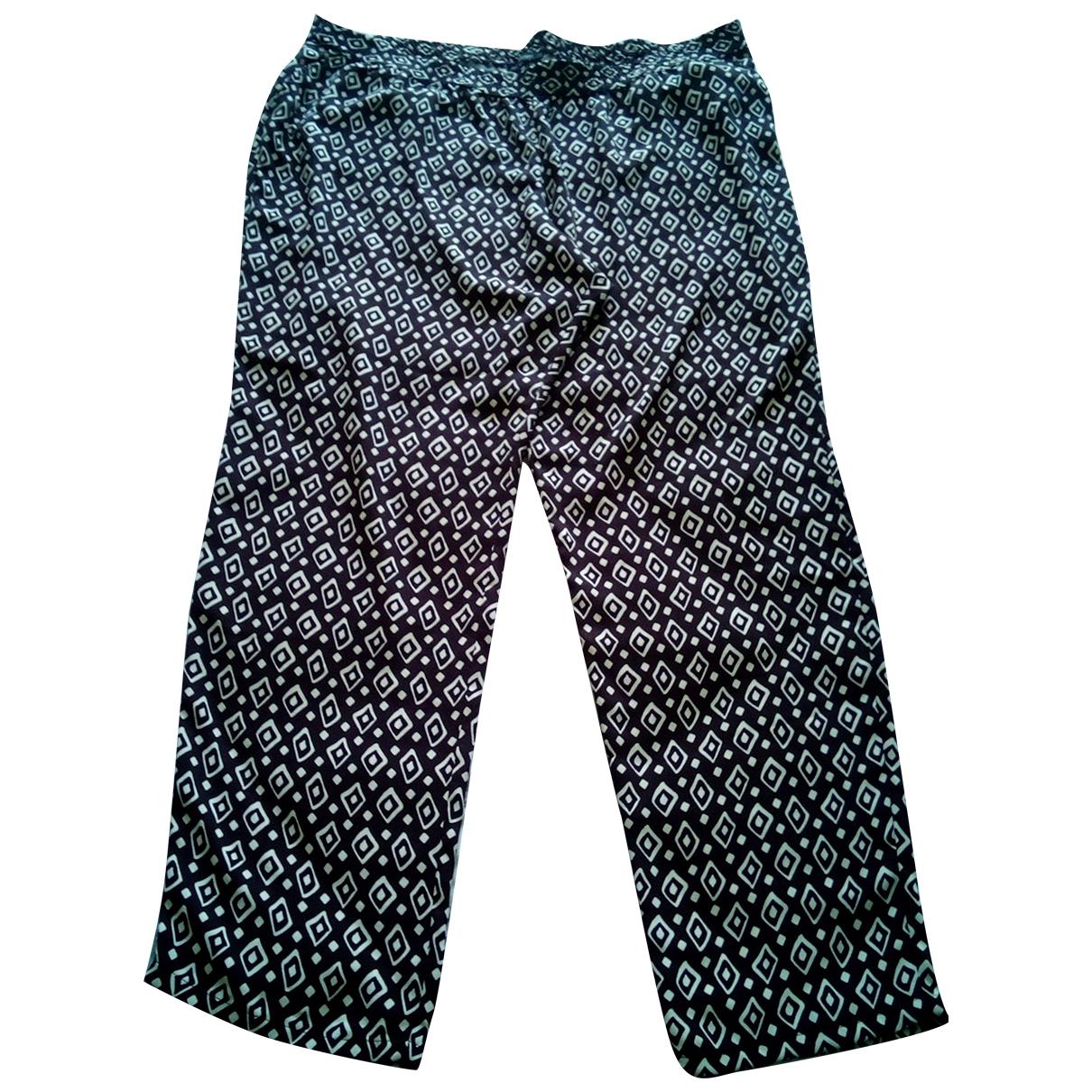 Elena Miro \N Multicolour Spandex Trousers for Women 54-56 IT