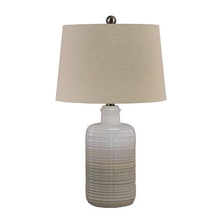 Signature Design by Ashley Marnina 2-pc. Ceramic Table Lamp, One Size , Beige