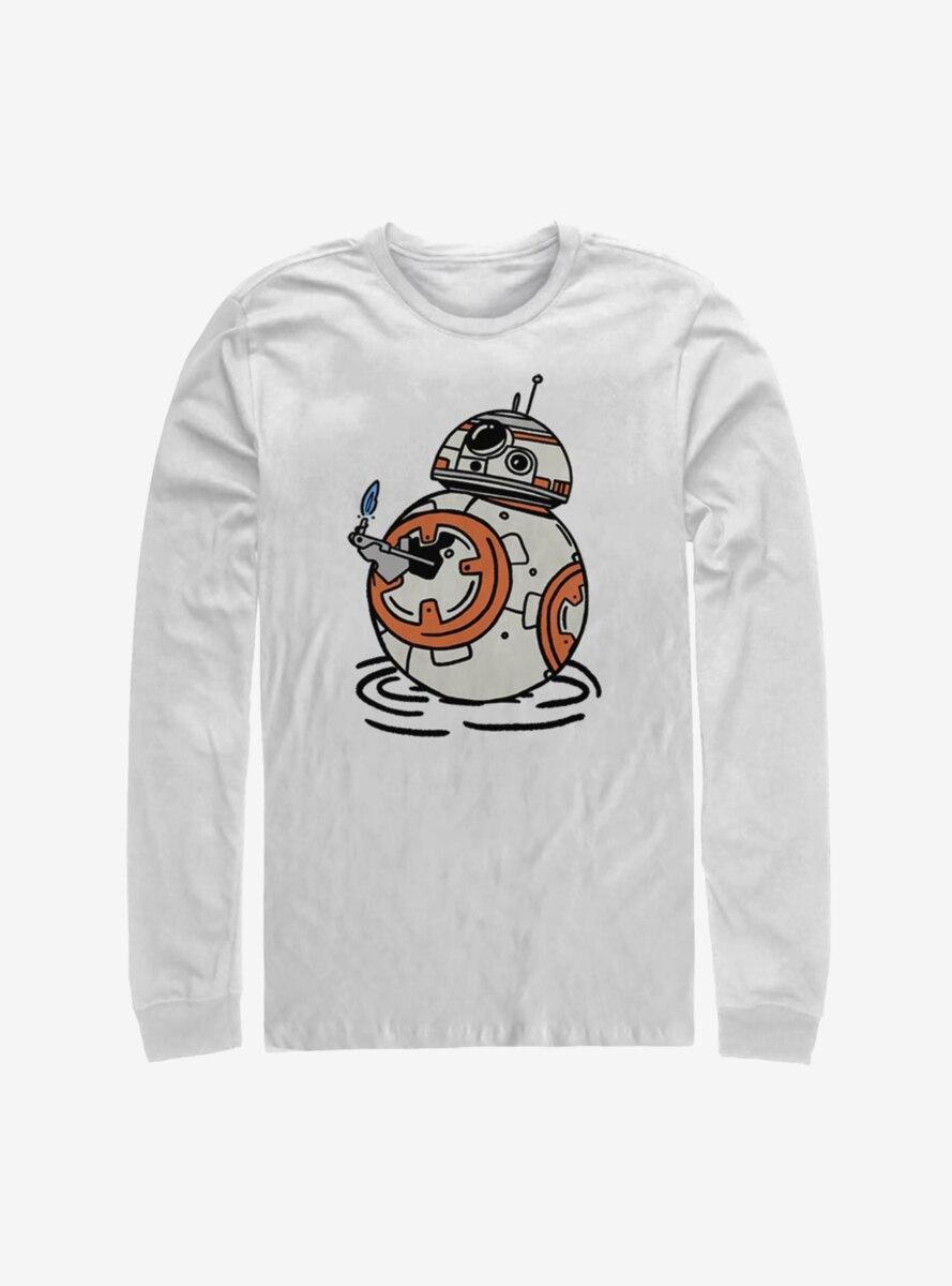 Star Wars Episode IX The Rise Of Skywalker BB Doodles Long-Sleeve T-Shirt