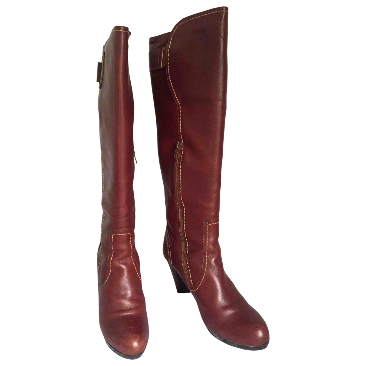 River Island \N Brown Leather Boots for Women 39 EU