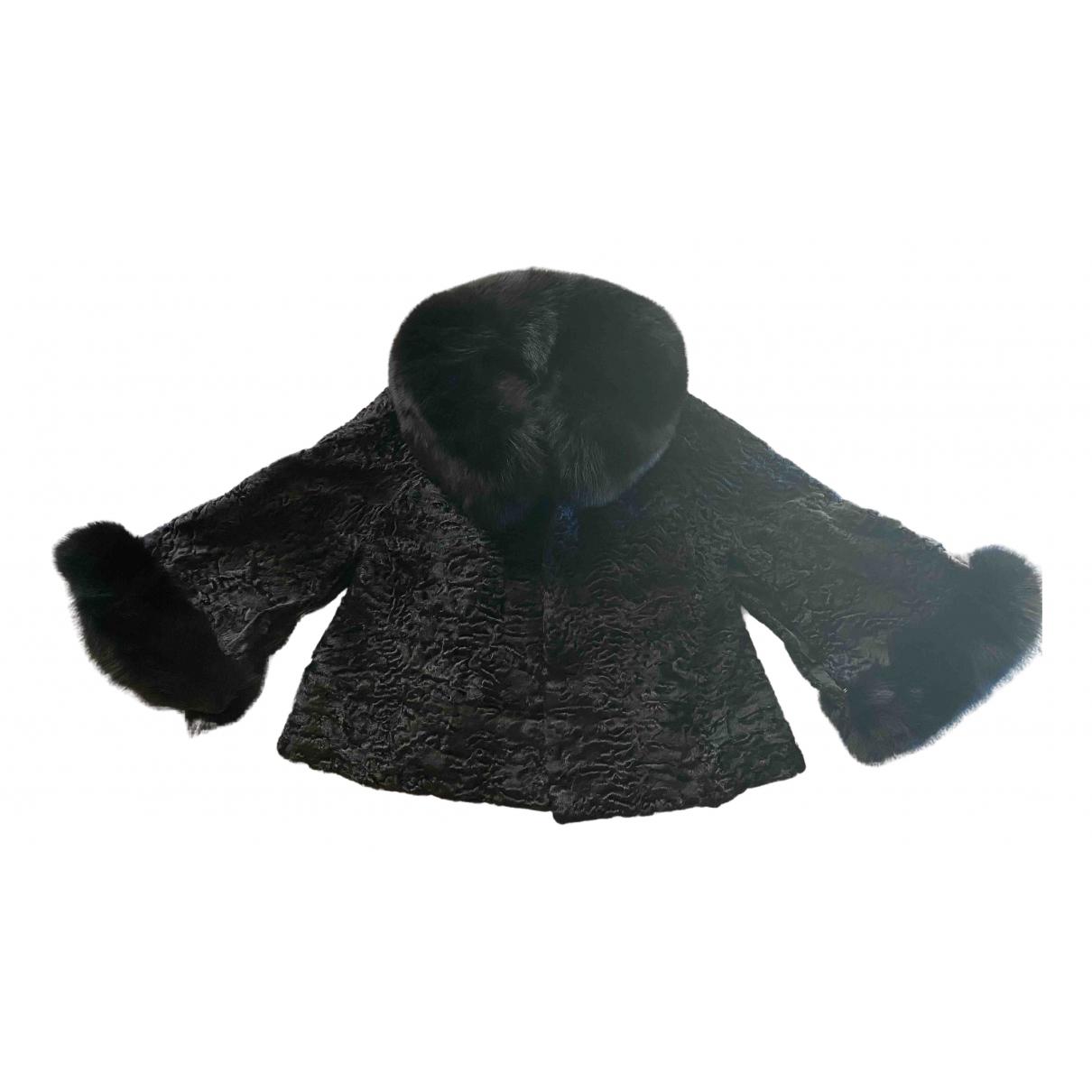 Non Signé / Unsigned \N Black Astrakhan jacket for Women M International