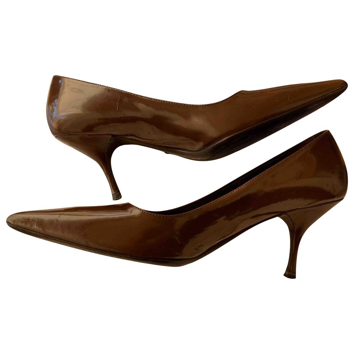 Prada \N Brown Patent leather Heels for Women 35 IT