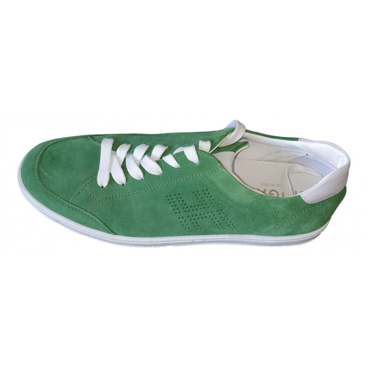 Hogan \N Green Leather Lace ups for Men 9.5 US
