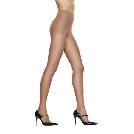 Hanes Silk Reflections Control-Top Sandalfoot Pantyhose, Plus 2 , Beige