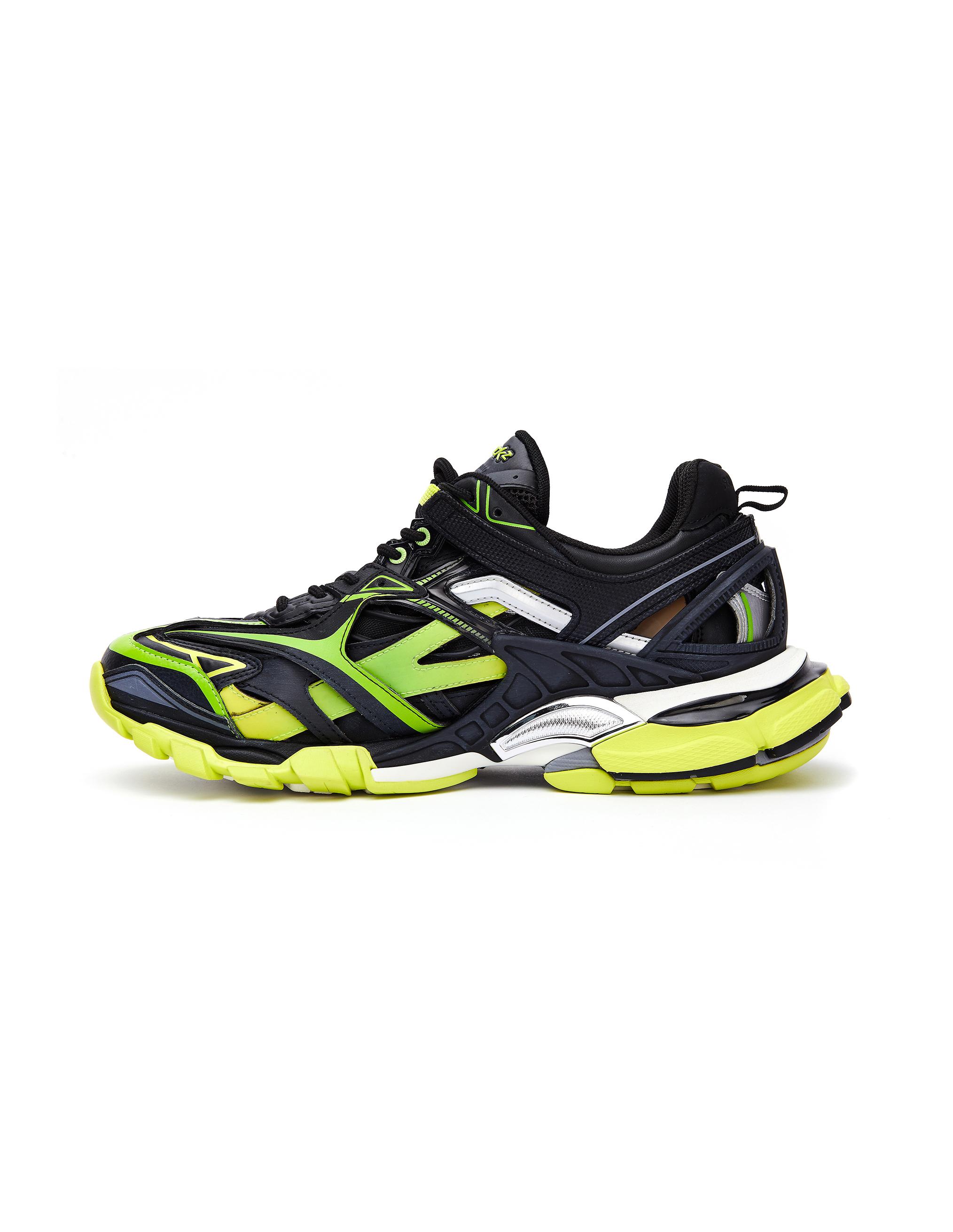 Balenciaga Black & Green Track 2 Sneakers