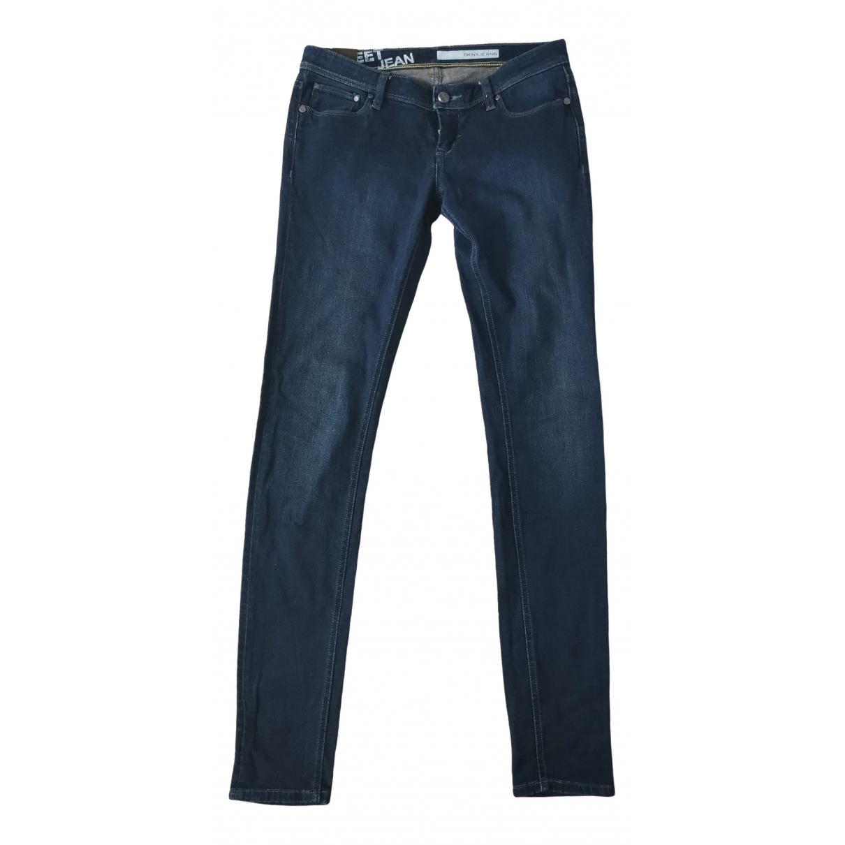Dkny \N Blue Denim - Jeans Trousers for Women 10 UK