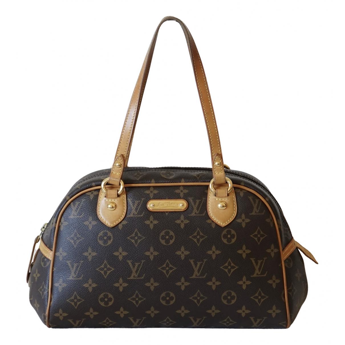 Louis Vuitton Montorgueil Brown Cloth handbag for Women \N