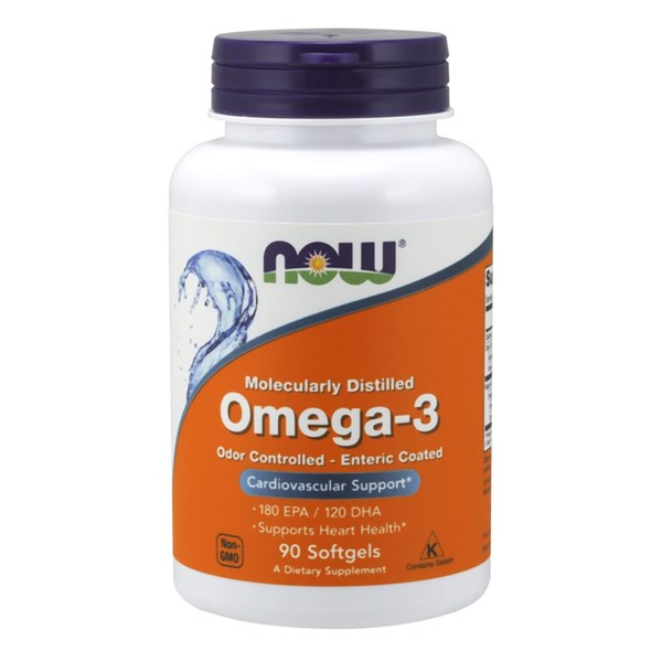 Molecularly Distilled Omega-3 90 Sgels by Now Foods