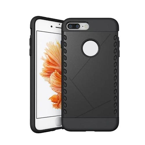 Shield Pattern Protective Case Shockproof Drop-resistance Back Cover For iPhone 8 Plus / iPhone 7 Plus - Black