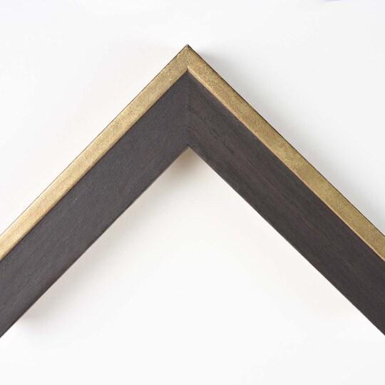 Dark Walnut With Gold Edge Custom Frame By Michaels® in Brown | 8 X 10 | MDF