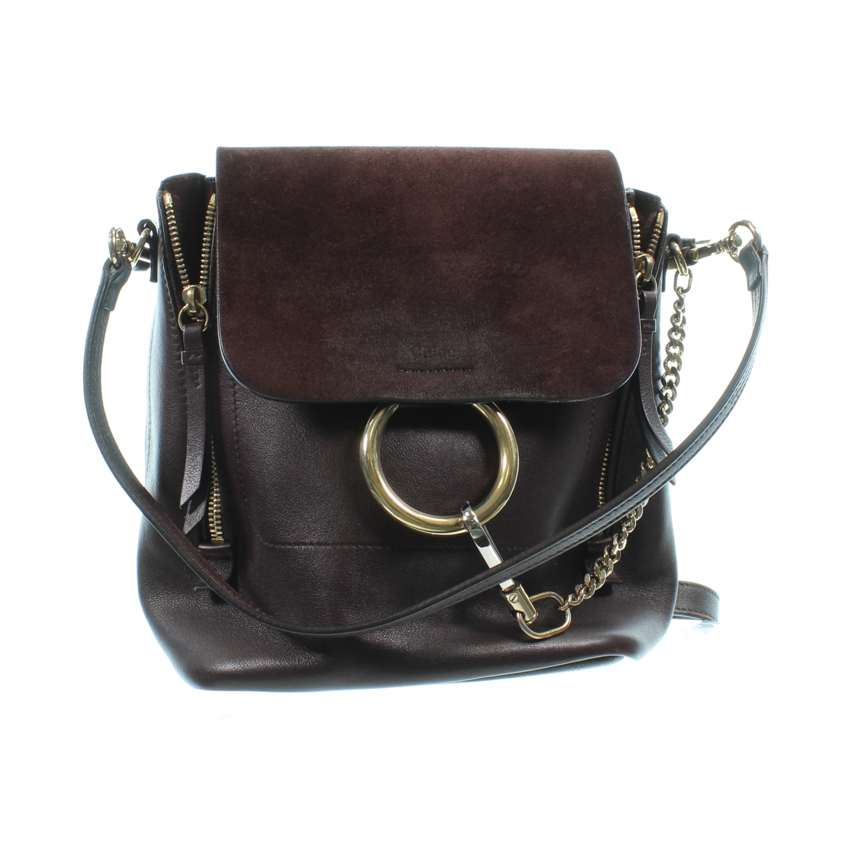 Chloé Faye Brown Leather backpack for Women \N
