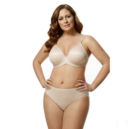 Elila Microfiber Molded Underwire Full Coverage Bra, Dd , Beige