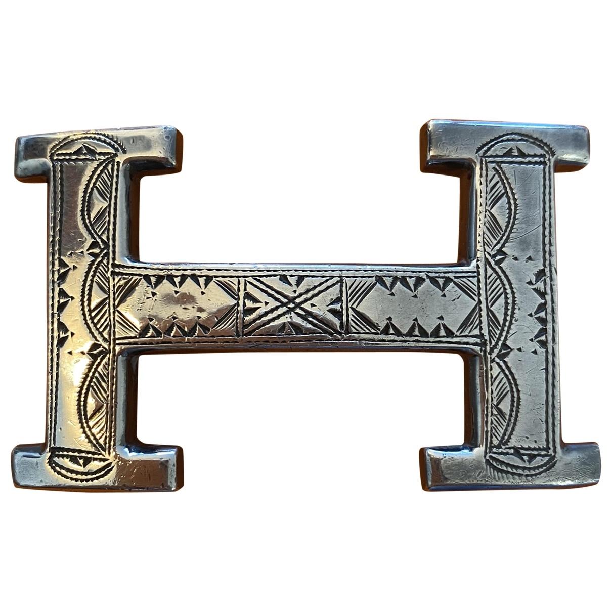 Hermès Boucle seule / Belt buckle Silver Silver belt for Women 80 cm
