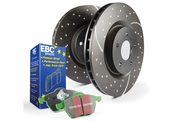 EBC Brakes S10KR1069 S10KR Kit Number REAR Disc Brake Pad and Rotor Kit DP21289+GD7196 BMW Z4 Rear 2003-2009 3.0L 6-Cyl
