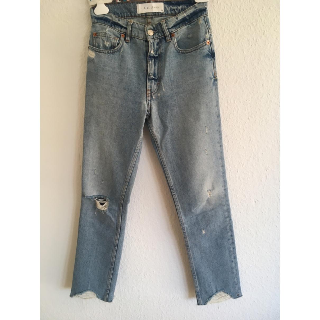 Iro \N Blue Denim - Jeans Jeans for Women 24 US