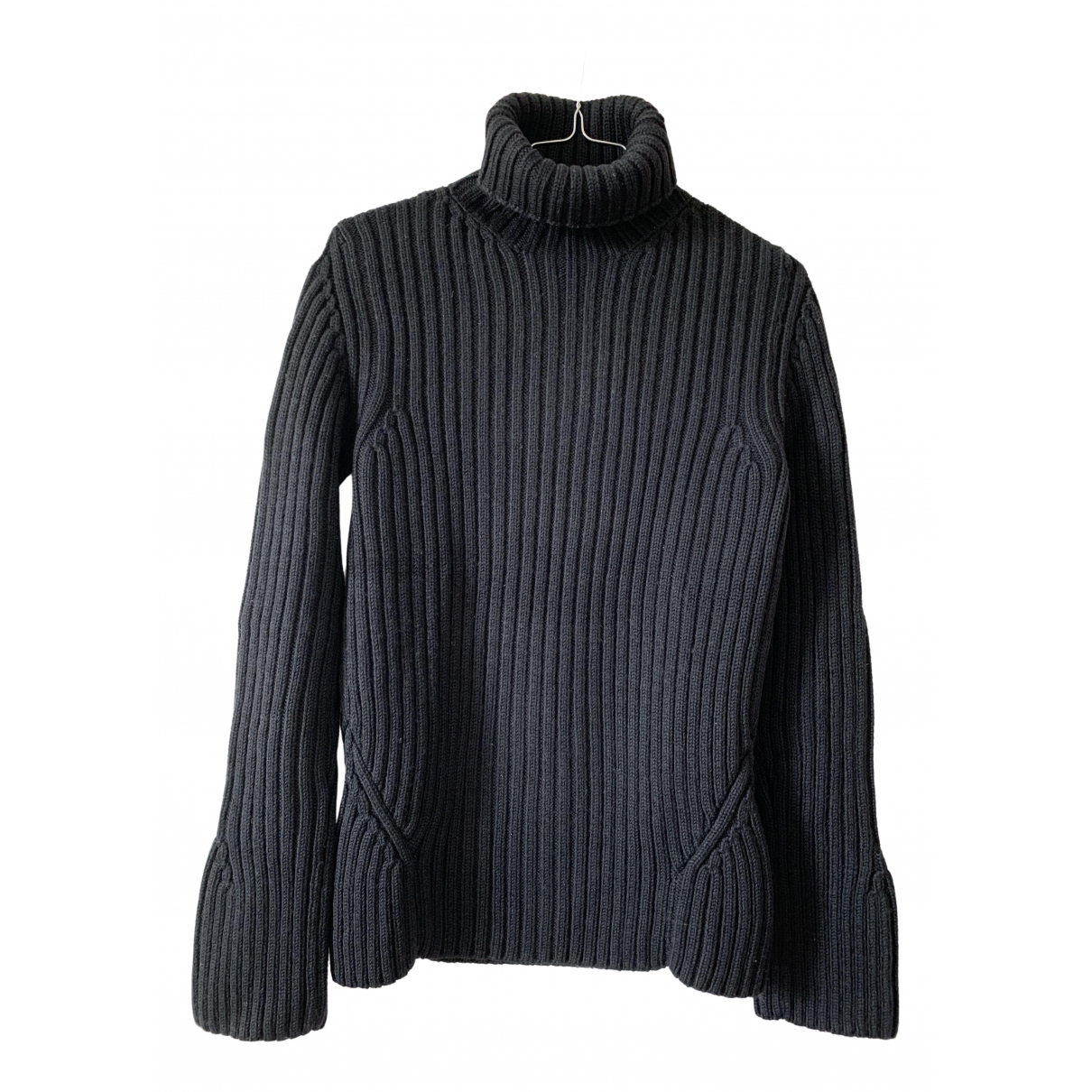 Non Signé / Unsigned \N Black Wool Knitwear for Women 40 FR