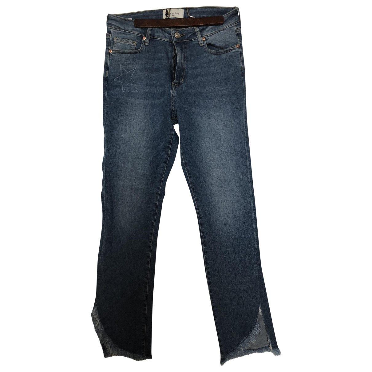 Berenice \N Blue Cotton - elasthane Jeans for Women 40 FR