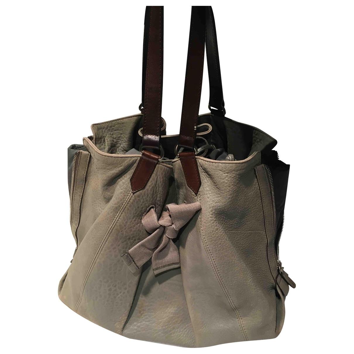 Brunello Cucinelli \N Grey Leather handbag for Women \N