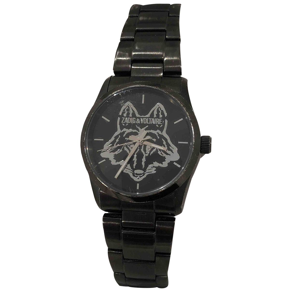 Zadig & Voltaire \N Black Steel watch for Women \N