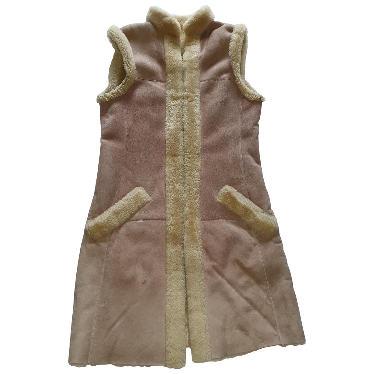 Dior \N Pink Shearling coat for Women 38 FR