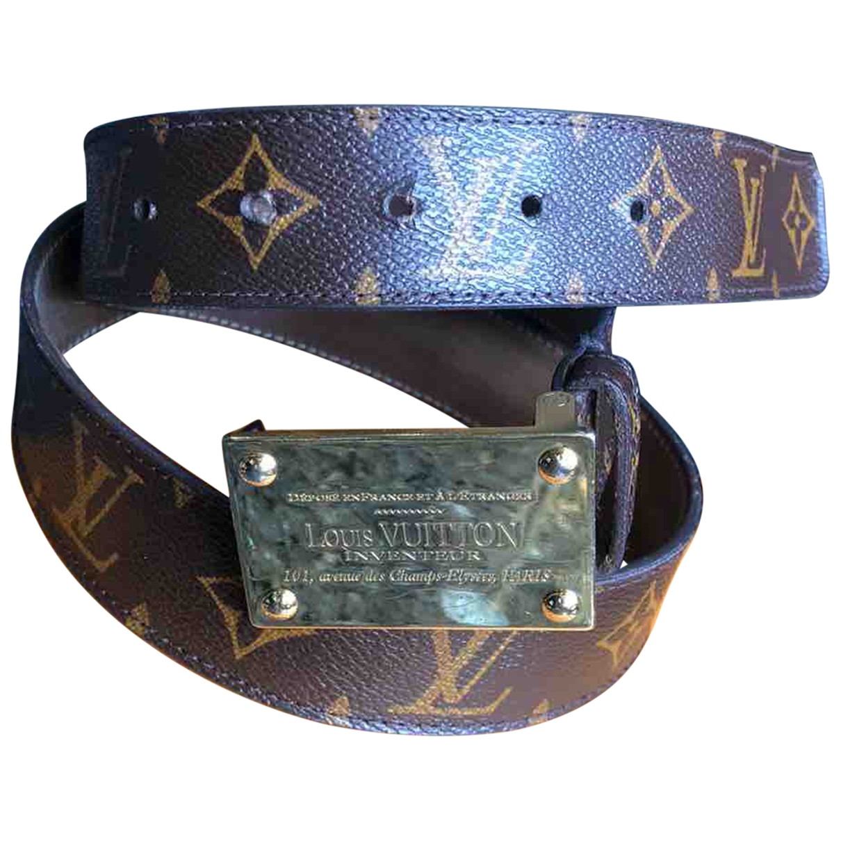 Louis Vuitton \N Brown Cloth belt for Women 85 cm
