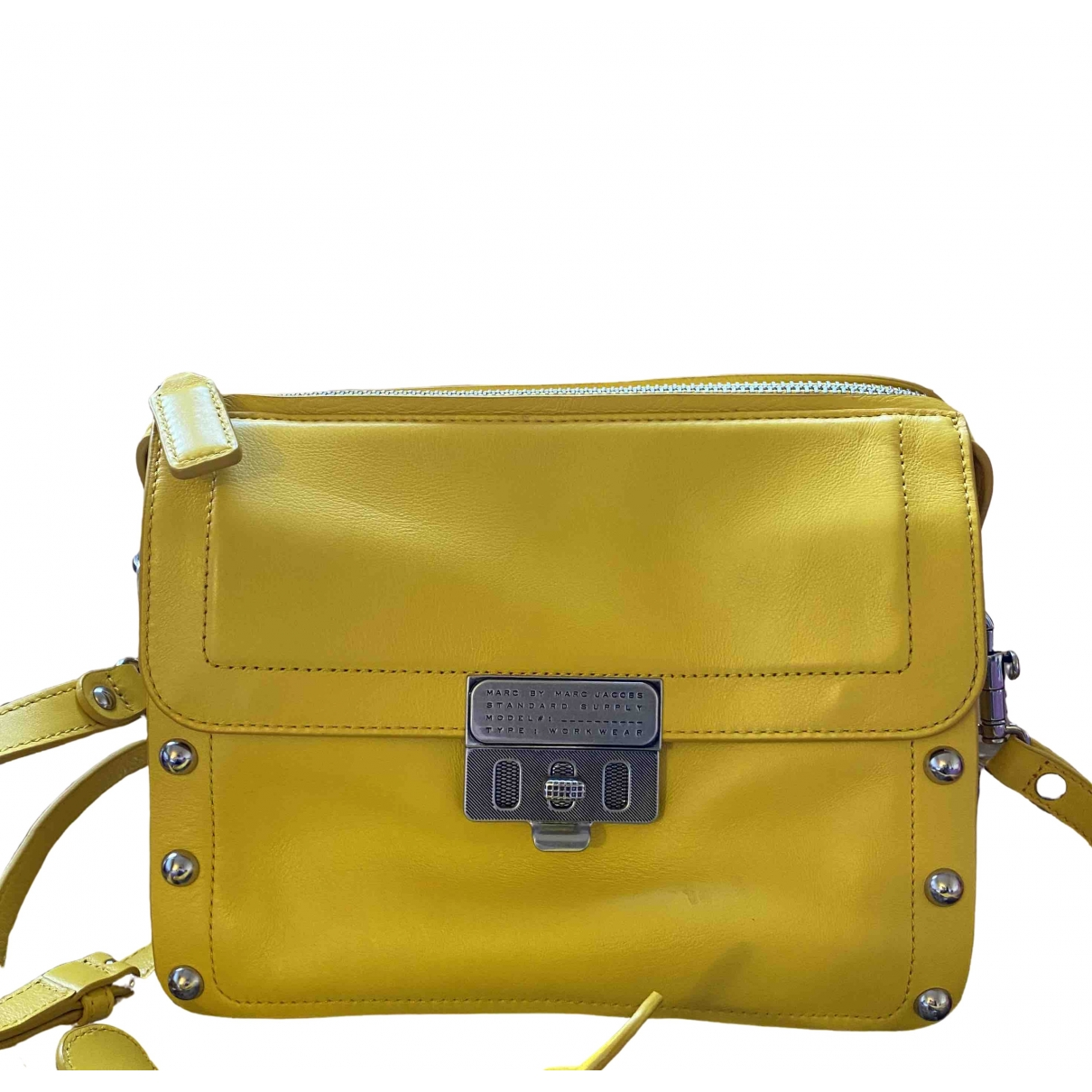 Marc By Marc Jacobs \N Yellow Patent leather handbag for Women \N