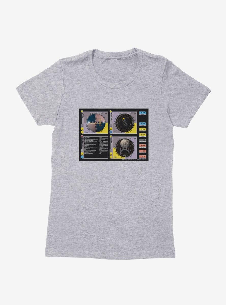 Star Trek Perimeter Scans Womens T-Shirt