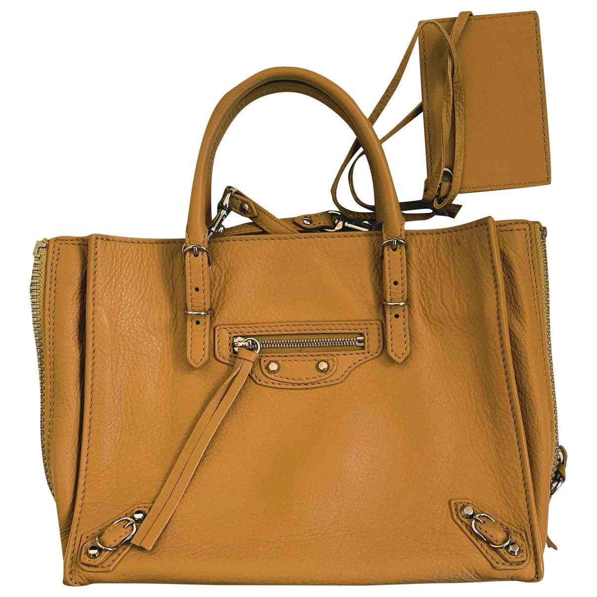 Balenciaga Papier Beige Leather handbag for Women \N