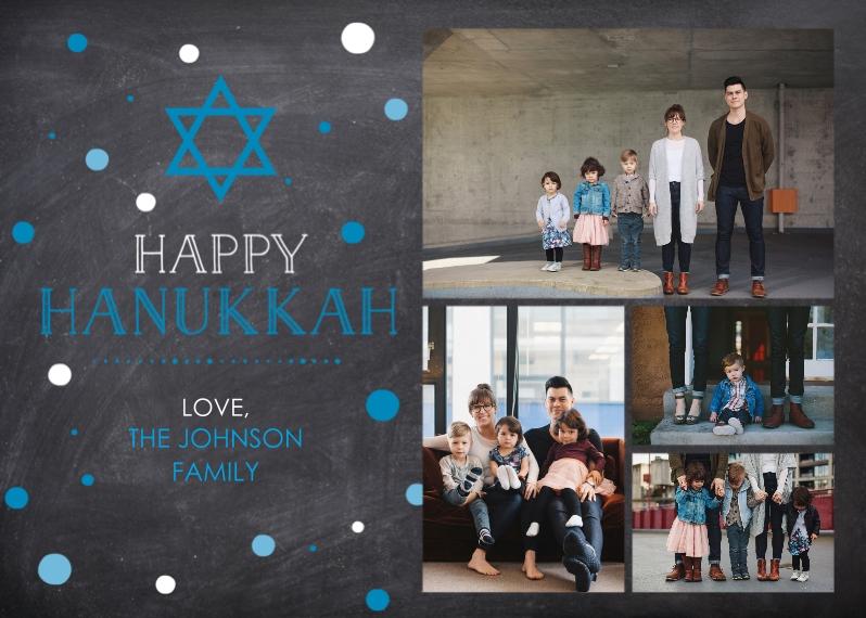 Hanukkah Photo Cards Flat Matte Photo Paper Cards with Envelopes, 5x7, Card & Stationery -Happy Hanukkah Chalkboard