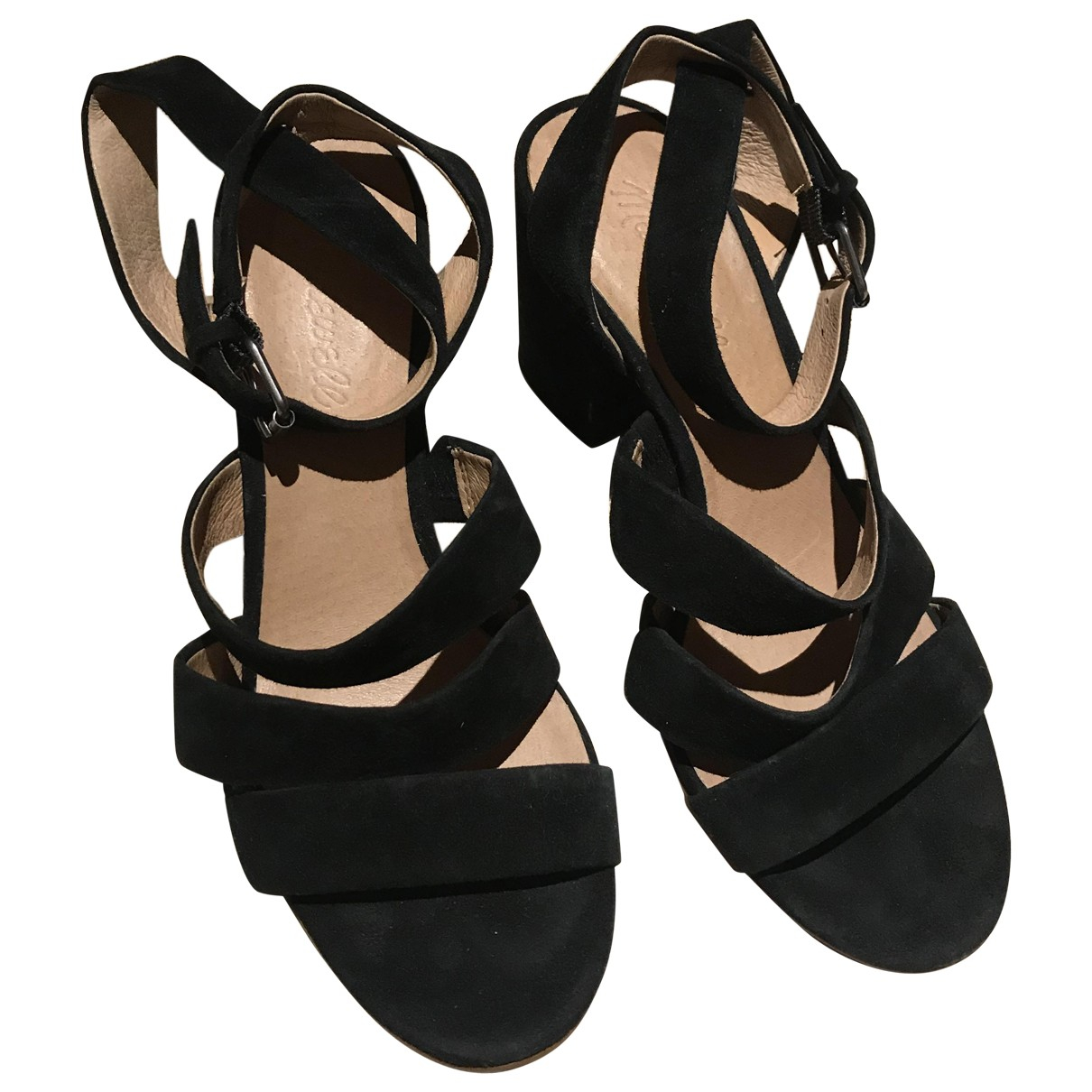 Madewell \N Black Leather Heels for Women 6.5 US