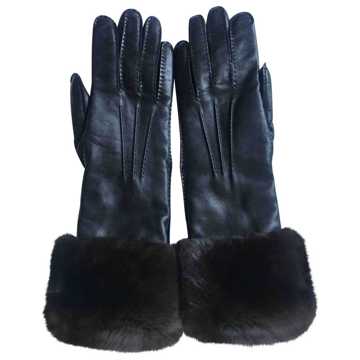 Malo \N Brown Leather Gloves for Women M International