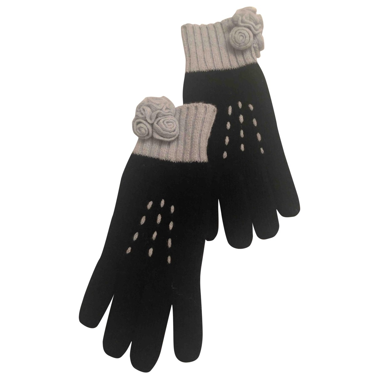 Moschino \N Black Wool Gloves for Women M International