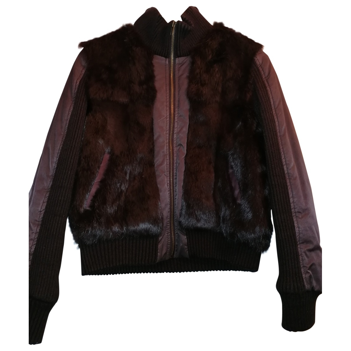 Max & Co \N Brown Rabbit jacket for Women 46 IT