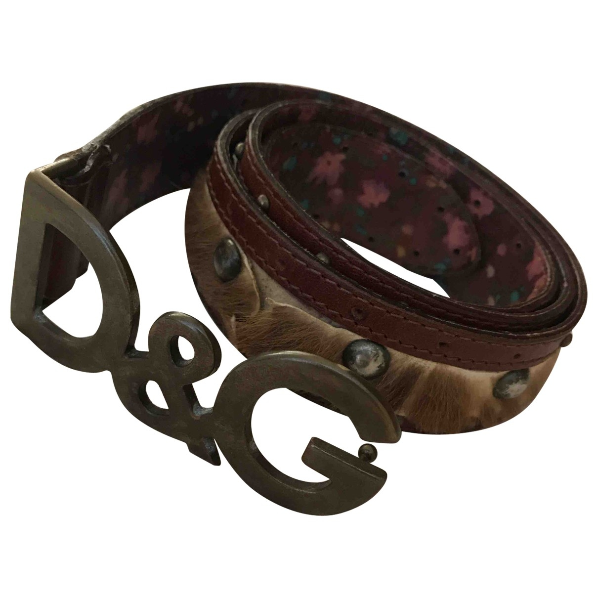 D&g \N Brown Leather belt for Women M International