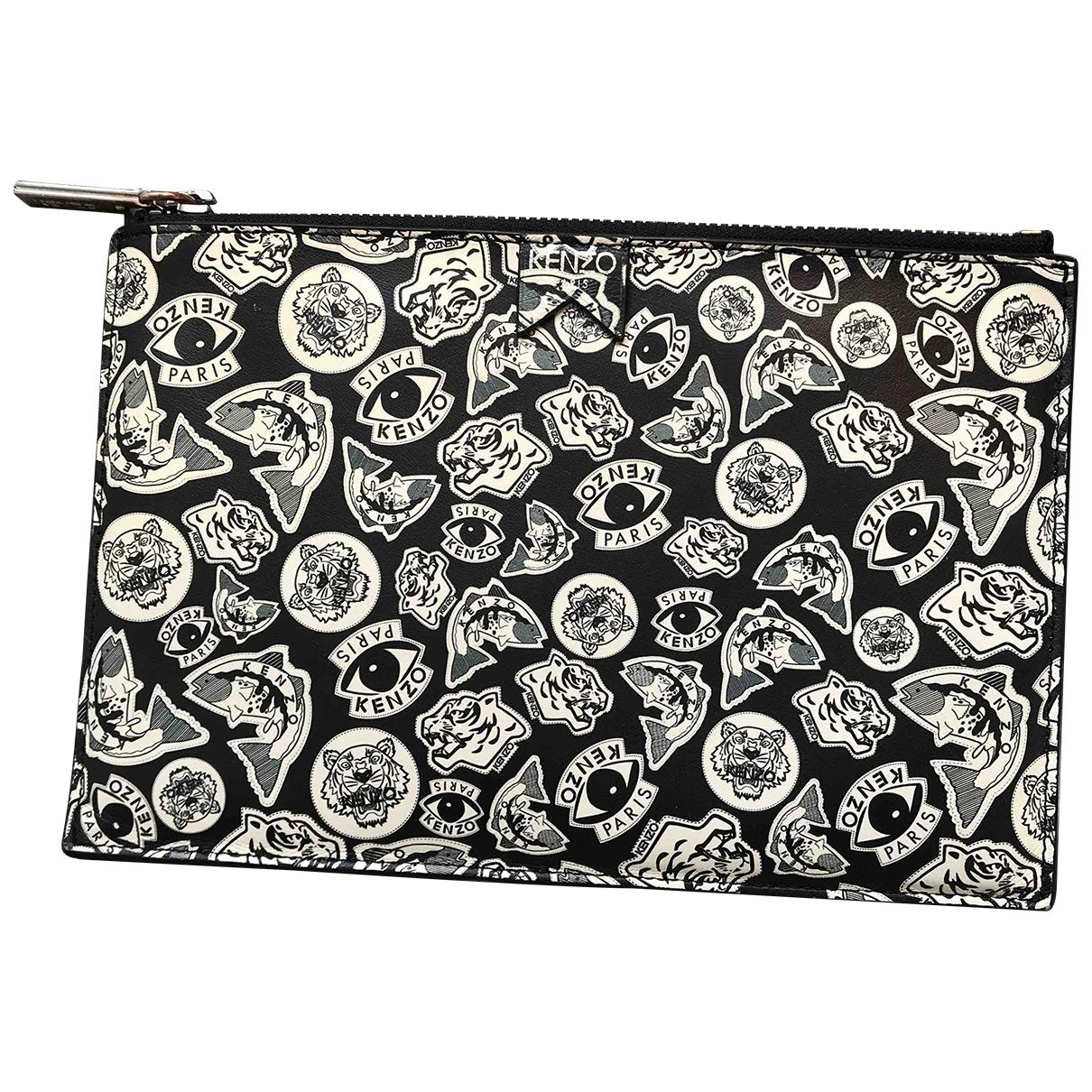 Kenzo \N Black Leather Clutch bag for Women \N