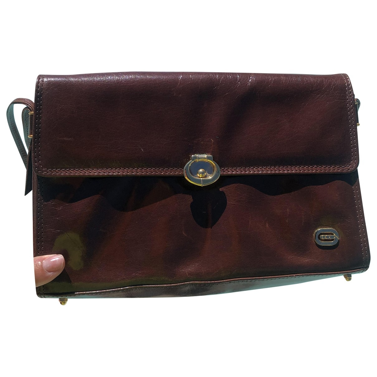 Non Signé / Unsigned \N Brown Leather Clutch bag for Women \N