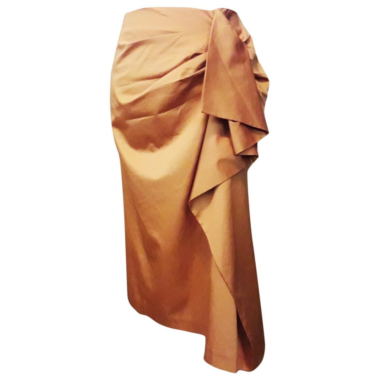 Tara Jarmon \N Camel Cotton skirt for Women 38 FR