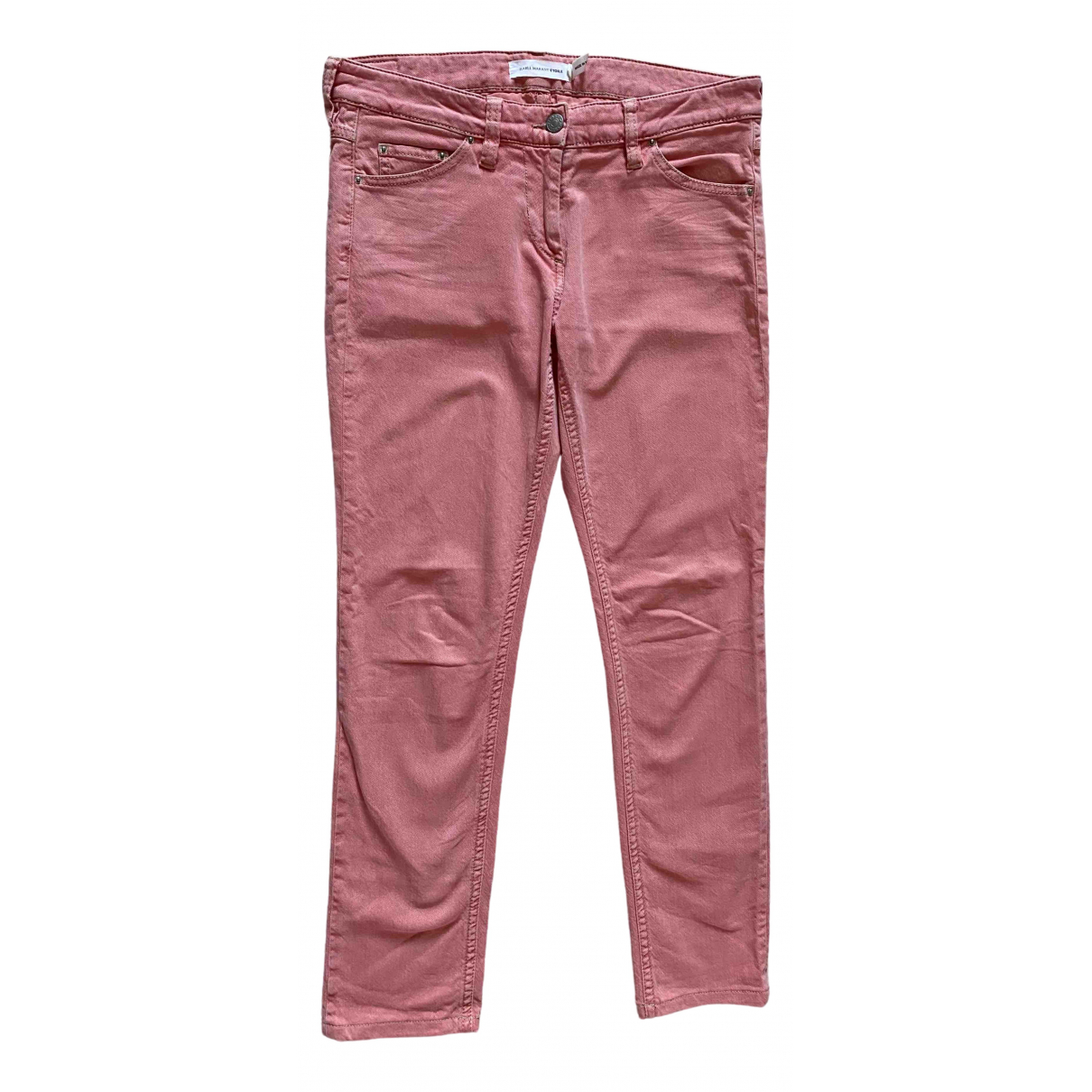 Isabel Marant Etoile \N Pink Cotton - elasthane Jeans for Women 38 FR