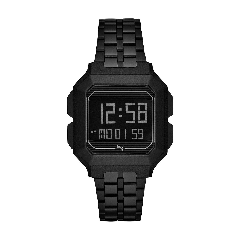 Puma Men's Remix P5017 Black Plastic Automatic Self Wind Fashion Watch