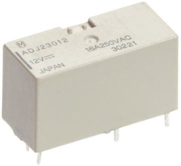 Panasonic , 24V dc Coil Non-Latching Relay DPDT, 10A Switching Current PCB Mount
