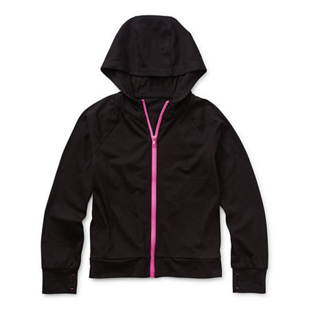 Xersion Little & Big Girls Hoodie, Large (14.5/16.5) Plus , Black