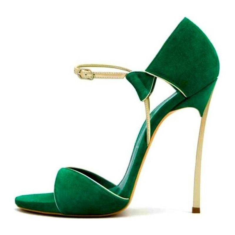 Ericdress Green Open Toe Low-Cut Stiletto Sandals